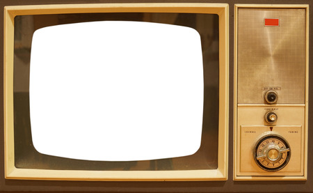 add text: old television with white screen to add text or image