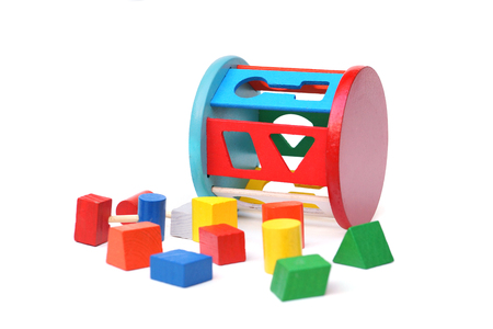 Wooden toys to learn matching shape