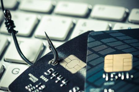 Tarjeta de crédito ataque de phishing Foto de archivo - 61754441