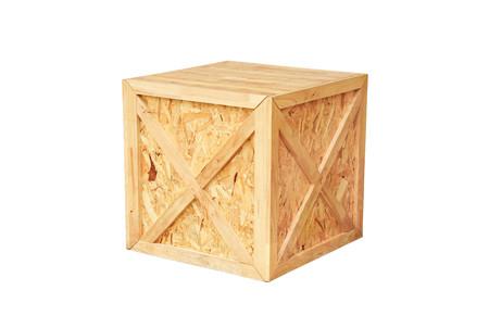 cube box: Wooden cube box isolated Stock Photo