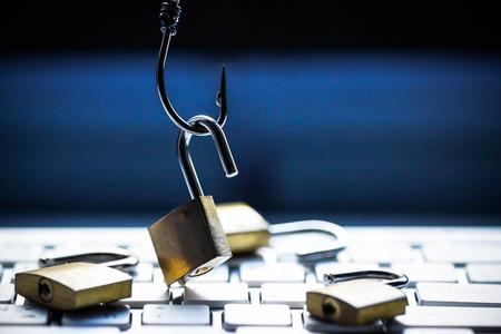 Phishing attack computer system Stok Fotoğraf