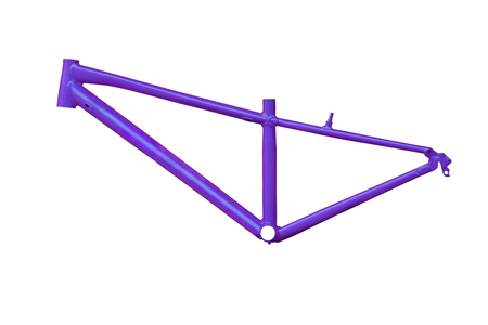 mtb: Aluminum mountain bike frame designed for female cyclist