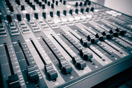 Sound controller   Sound mixer Stock Photo
