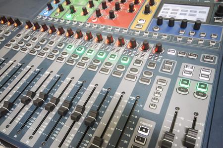 pannel: Sound controller   Sound mixer Stock Photo