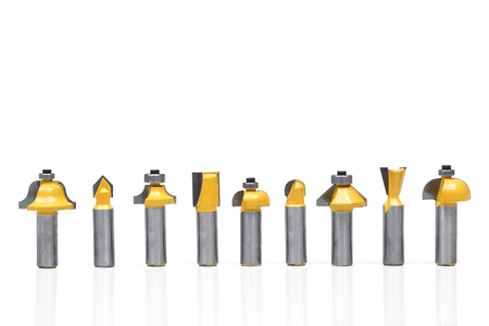 Drill bits for wood craft and furniture production Stock Photo