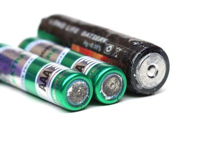 old battery leak  hazardous waste concept