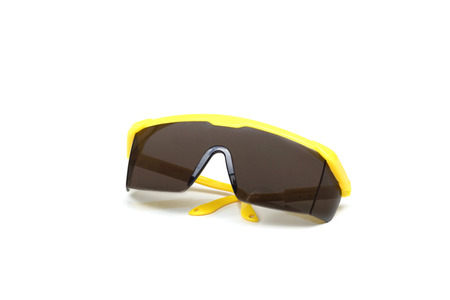 protective: Protective glasses in yellow color