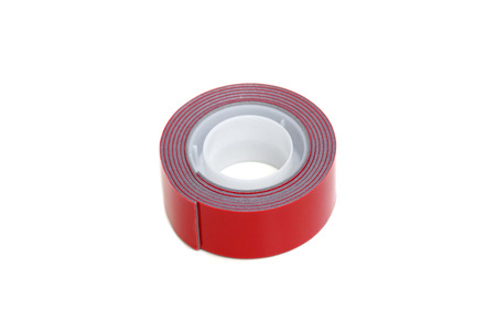 sided: Two sided adhesive tape in red color