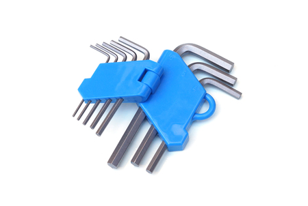 hex key: Hex key wrench with holder Stock Photo