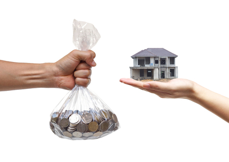 cheating: Buying a house  Cheating done by Construction contractor concept Stock Photo
