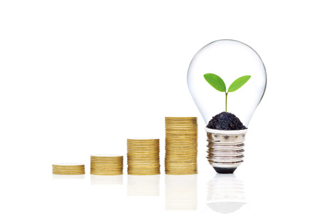 Green saving concept for wealth and environment Stock Photo