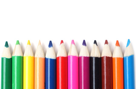 add text: Color pencils with blank space to add text