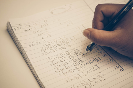 exponential: Doing difficult math homework  Solving Exponential Equations
