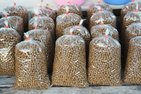 plastic bags: Fish food in plastic bags