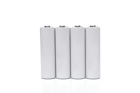 rechargeable: rechargeable battery isolated Stock Photo