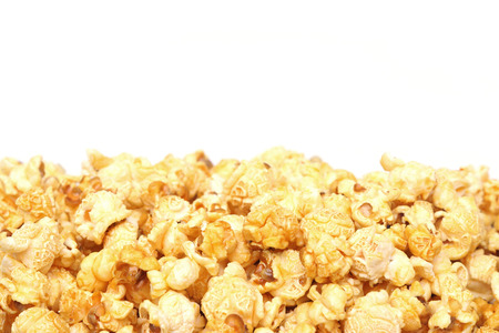 add text: Caramel popcorn with blank space to add text