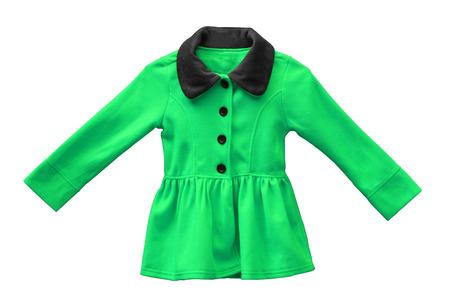 white sleeve: Jacket for female kid isolated Stock Photo