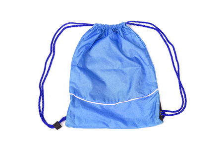 pack string: Blue drawstring bags for people with an active lifestyle