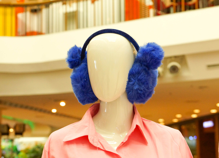 ear muffs: Ear muffs on model Stock Photo