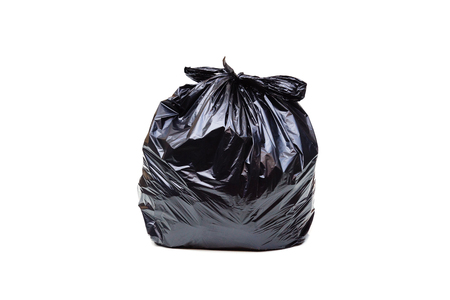 Zwarte geïsoleerde vuilniszak