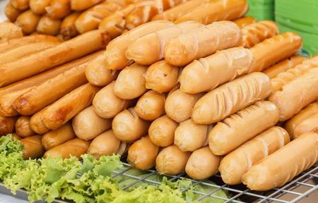 borax: A pile of fried sausage