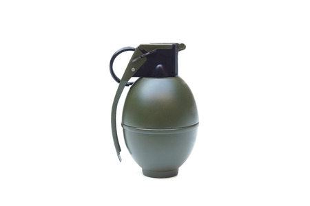 A hand grenade isolated