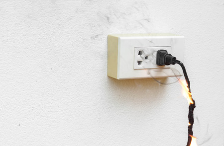 surge: Electricity short circuit  Electrical failure resulting in electricity wire burnt