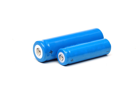 Closeup of rechargeable battery isolated