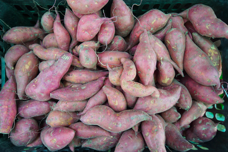 A pile of sweet potatoes Stock Photo