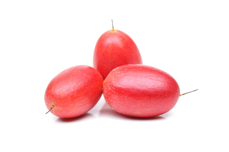 Miracle fruit; Miracle berry (Synsepalum dulcificum) Stock Photo