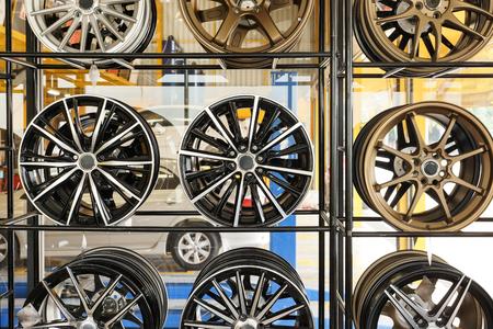 alloy: Car alloy wheels on shelf