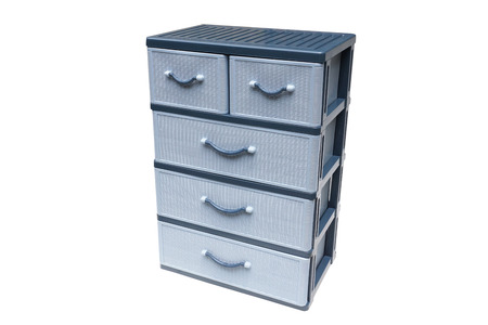 Plastic Cabinet For Keeping Clothes And Things Stock Photo, Picture ...
