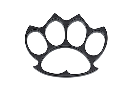 Knuckle in black color isolated