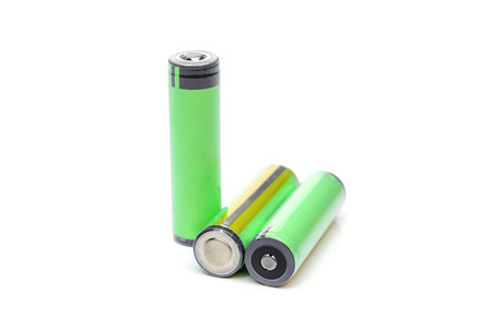 Green rechargeable battery Archivio Fotografico