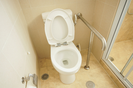 A toilet for patient and handicap Stock Photo