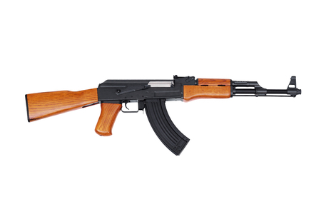 Assault rifle AK47 isolated on white background