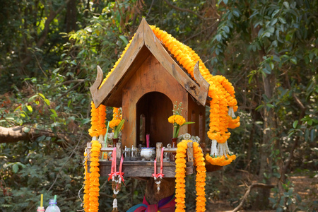 Wooden Spirit House / House of the guardian spirit