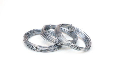 Metal wire isolated on white background