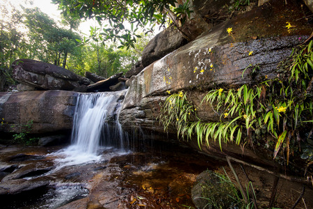 Huay Pok waterfall in Pha Taem Nation Park, Ubon Ratchathani Thailand