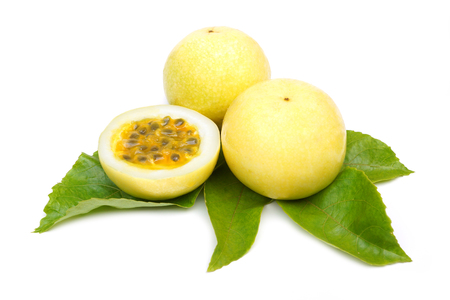 Passion fruits isolated on white