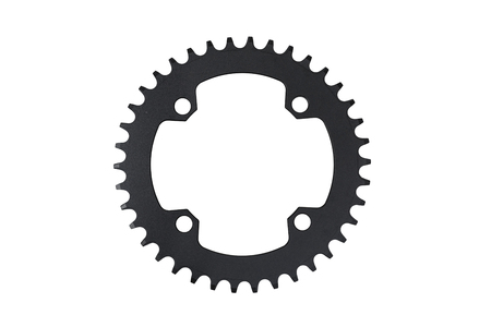 Bicycle chain ring with 38 teeth isolated on white