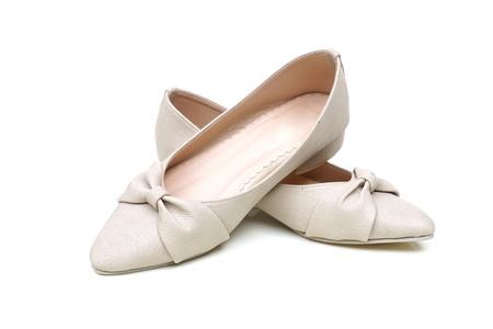 Female ballerina flat shoes isolated Reklamní fotografie - 120027985