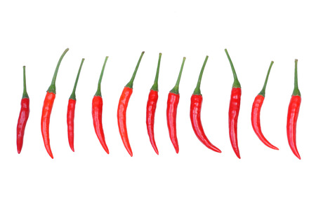 Red chilli isolated on white background