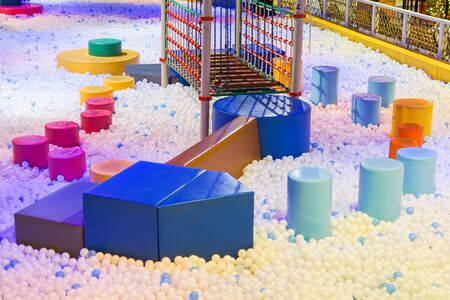 Indoor ball pit for kids Standard-Bild - 128335479