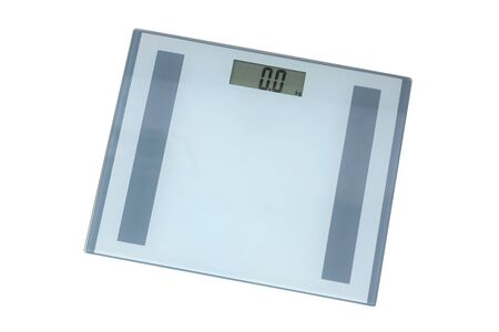 Digital weighing scale isolated on white background