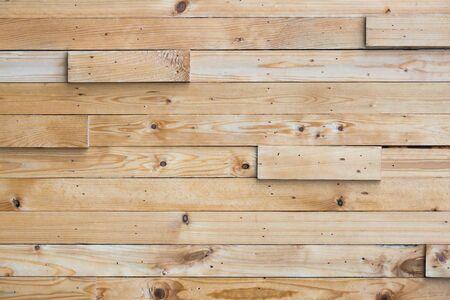 Schicht aus Holzbrett als Wand angeordnet Standard-Bild