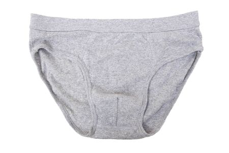 Male underwear in grey color isolated on white Reklamní fotografie