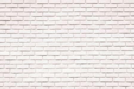Weißer Backsteinmauerhintergrund für Design und Dekoration Standard-Bild