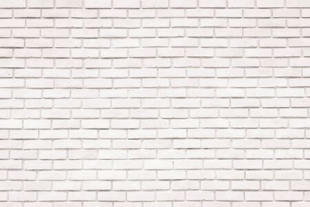 White brick wall background for design and decoration Stockfoto