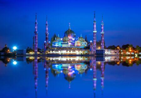 View of crystal mosque in Kuala Terengganu, Malaysia